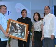 Awarding of Token of Appreciation to Msgr. Santos